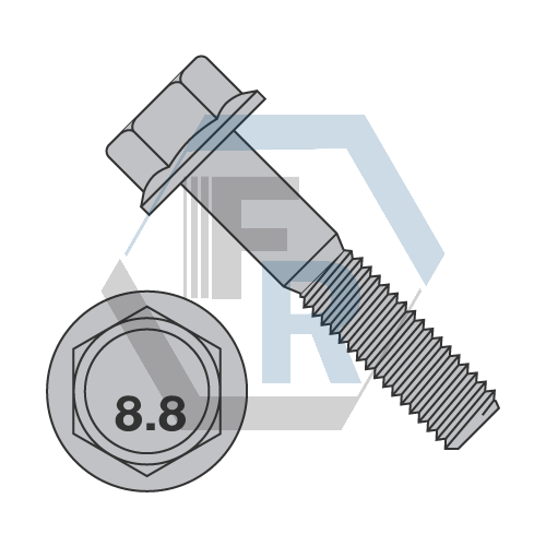 M6-1 0X40 DIN6921 8 8 FLANGE BOLT PLAIN | Fasteners Resource